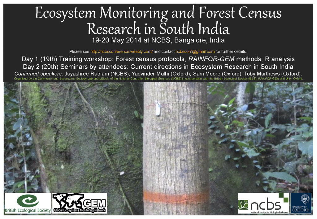 NCBS Conference 19-20 May 2014