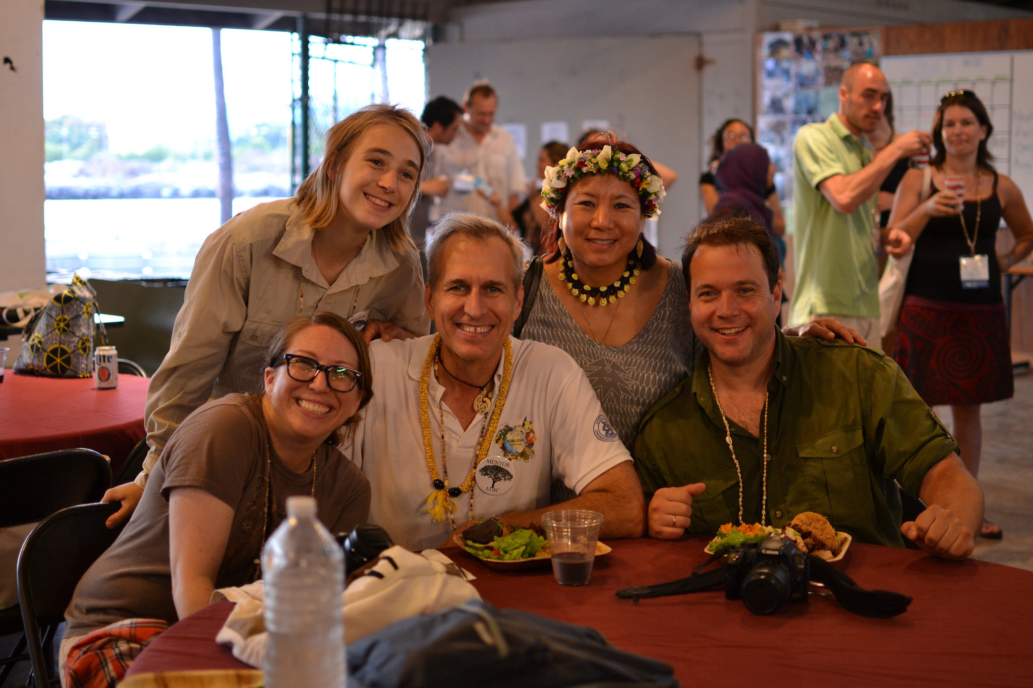 President SECSCI Chapter Erin Kuprewicz, Member-at-Large Alice Hughes, Chair Meeting Commitee Pierre-Michel Forget, Lee-Ann Choy (PCO) and Member-at-Large Norbert Kunert. Photo (c) Nicole Choy, 2015.