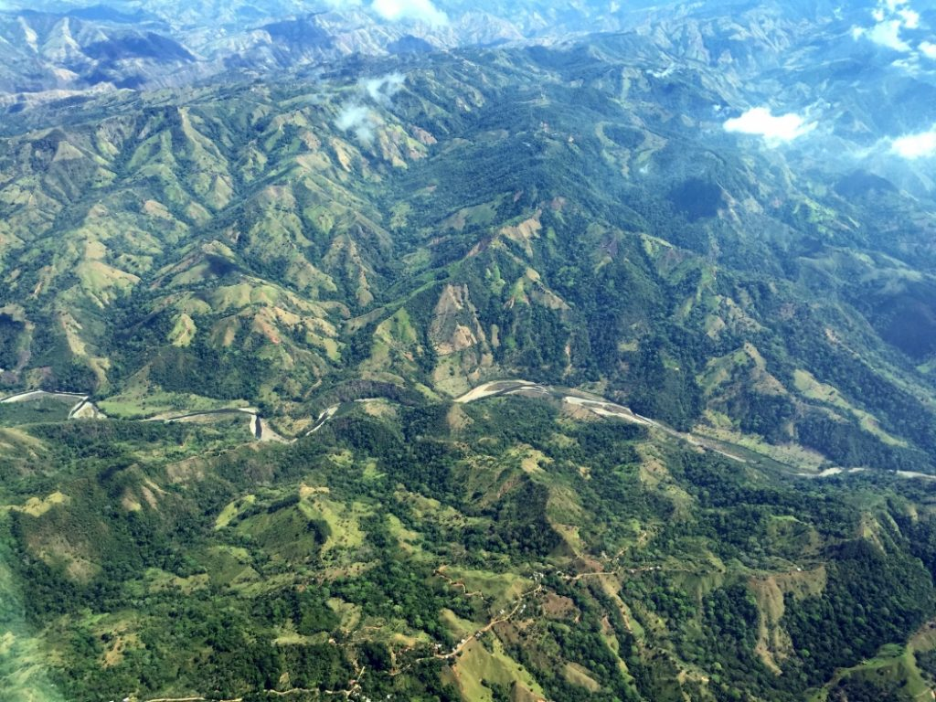 An aerial photograph of primary and secondary forest and agriculture fields on the Southern Pacific Coast of Costa Rica. Credit: Angélica Almeyda Zambrano/Science Advances